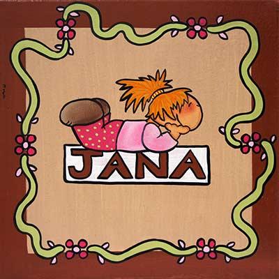 Quadre amb nen i nom 'Dani'