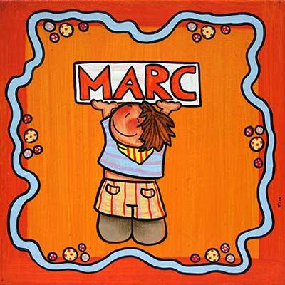 Quadre amb nen i nom 'Marc'