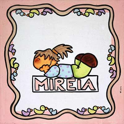 Quadre amb nen i nom 'Mireia'