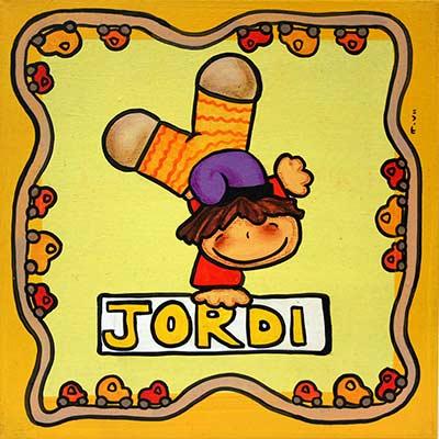 Quadre amb nen i nom 'Jordi'