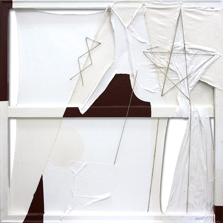 Quadre abstracte amb estelada
