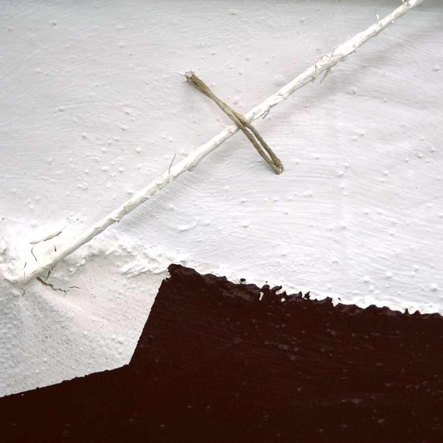 Detall de les textures i fils del quadre