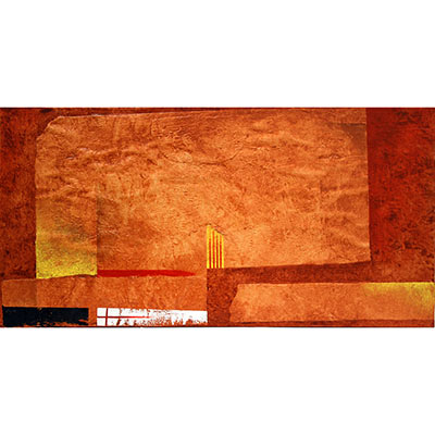 Quadre abstracte amb senyera
