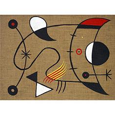 Quadre abstracte recordant Miró