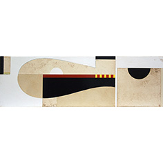 Quadre abstracte amb formes geomètriques