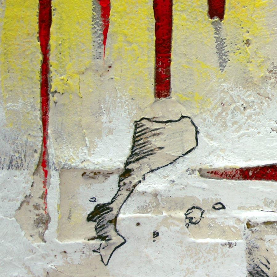 Detall del quadre  4 barres, PPCC i creu St. Jordi