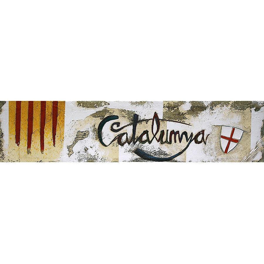 Senyera, escut de St. Jordi, PPCC i 'Catalunya'