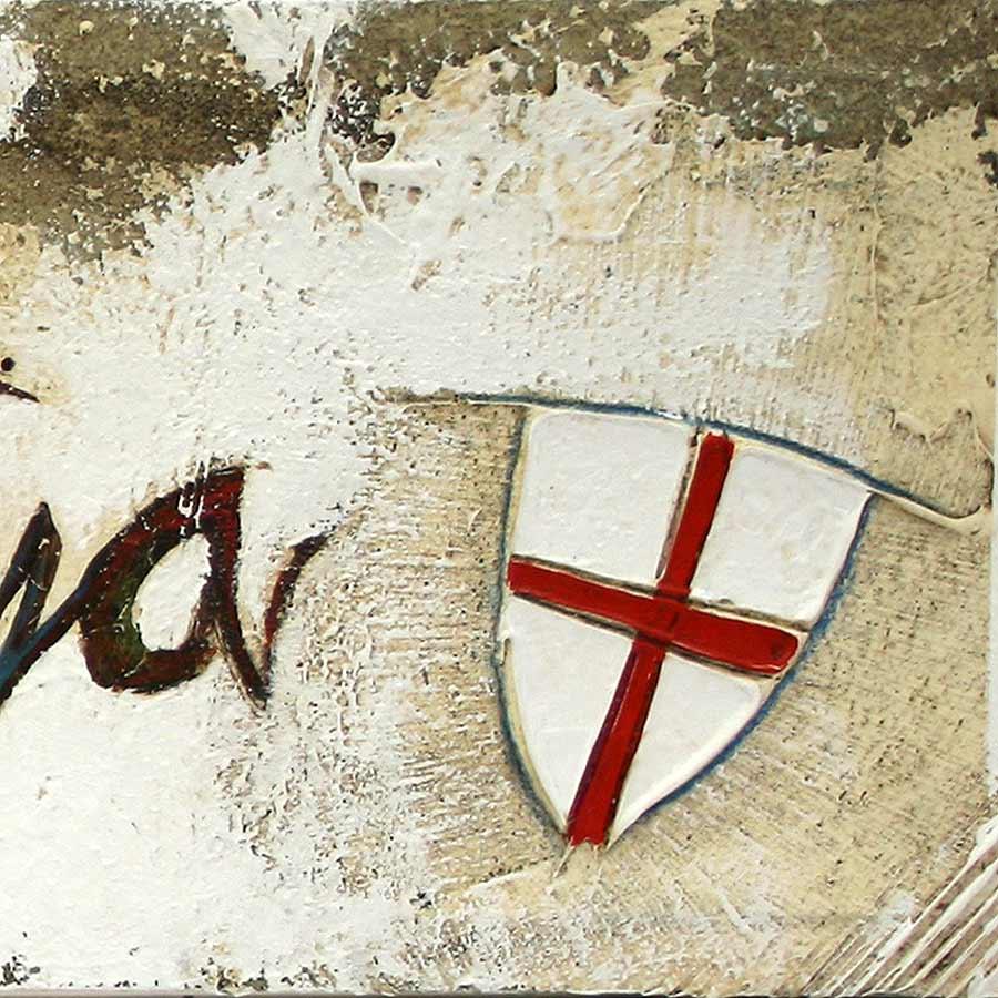 Detall del quadre amb Senyera i símbols