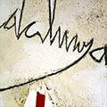 Detall del quadre amb 4 barres i 'Catalunya'
