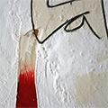 Detall de les diferents textures pictòriques