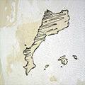 Detall dels Països catalans dibuixats i pintats