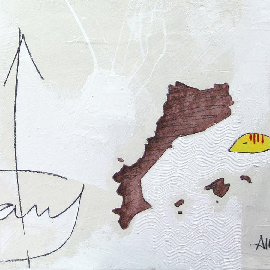 Detall del quadre amb 4 barres, 'Països Catalans', PPCC i dita