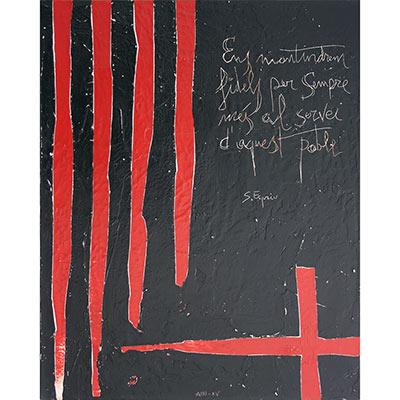 4 barres i creu de St. Jordi amb dita
