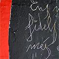 Detall del quadre amb 4 barres, creu St. Jordi i dita
