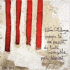 Pintura amb 4 barres i poema