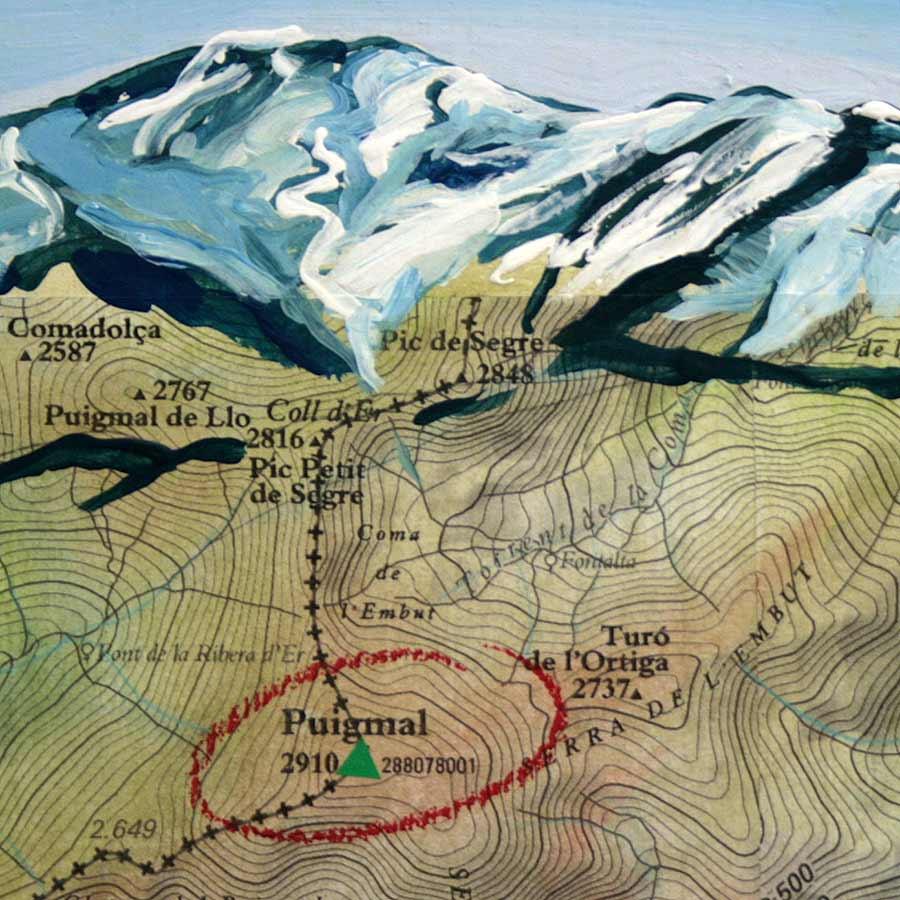 Detall del quadre del Puigmal