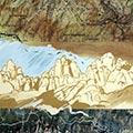 Detall del quadre amb Montserrat