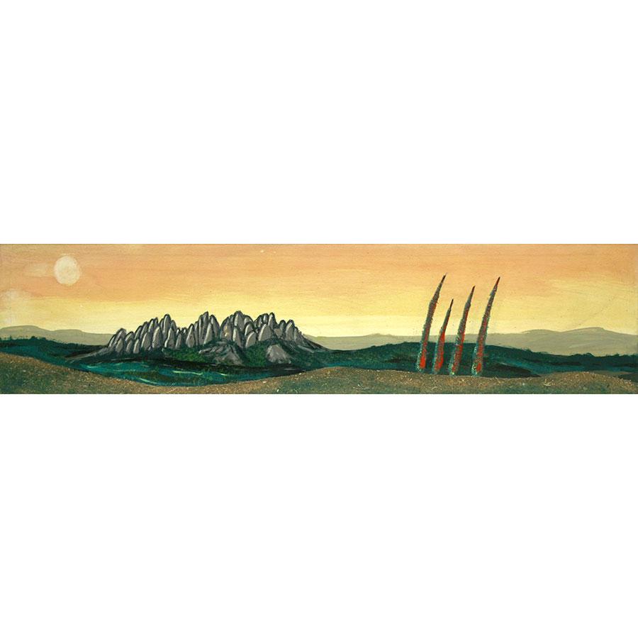 Paisatge amb les muntanyes de Montserrat