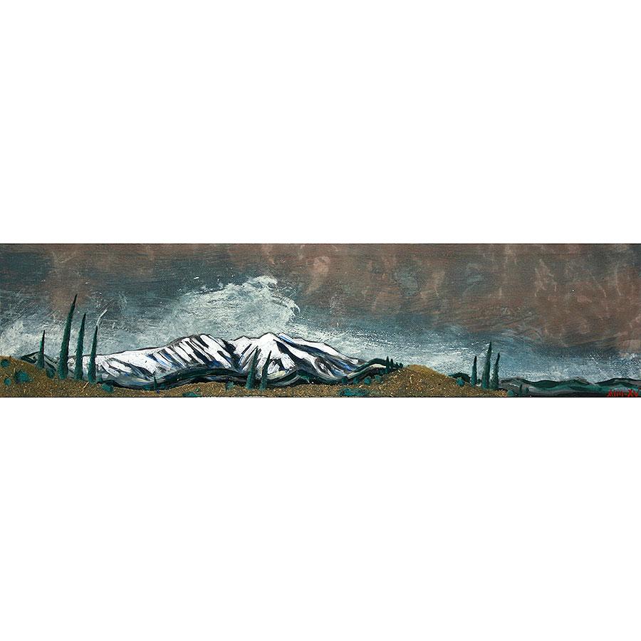 Paisatge amb la muntanya del Canigó