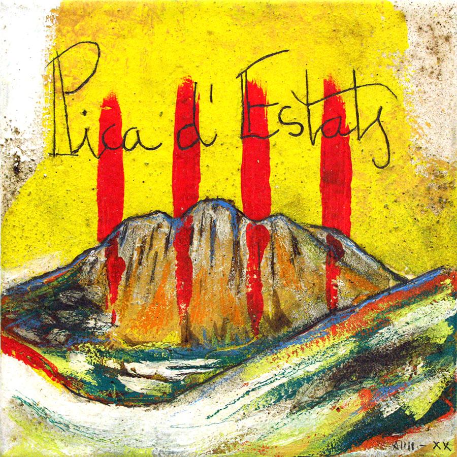 4 barres amb muntanya Pica d'Estats