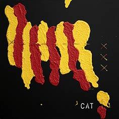 Quadre amb senyera i 'CAT'