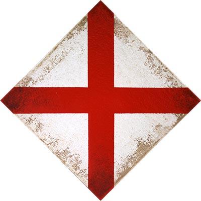 Rombe amb creu de Sant Jordi