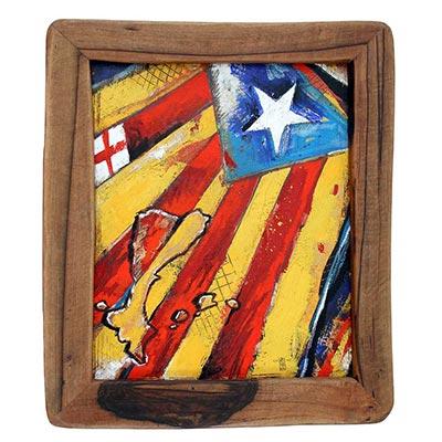 Pintura amb estelada, St. Jordi i PPCC
