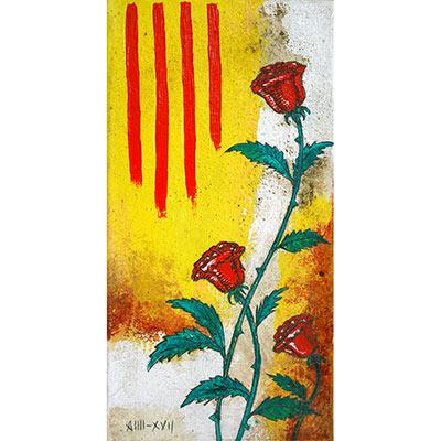 Quadre amb senyera i roses