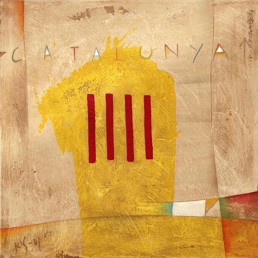 Quadre amb senyera catalana