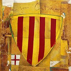 Escut català i creu de St. Jordi