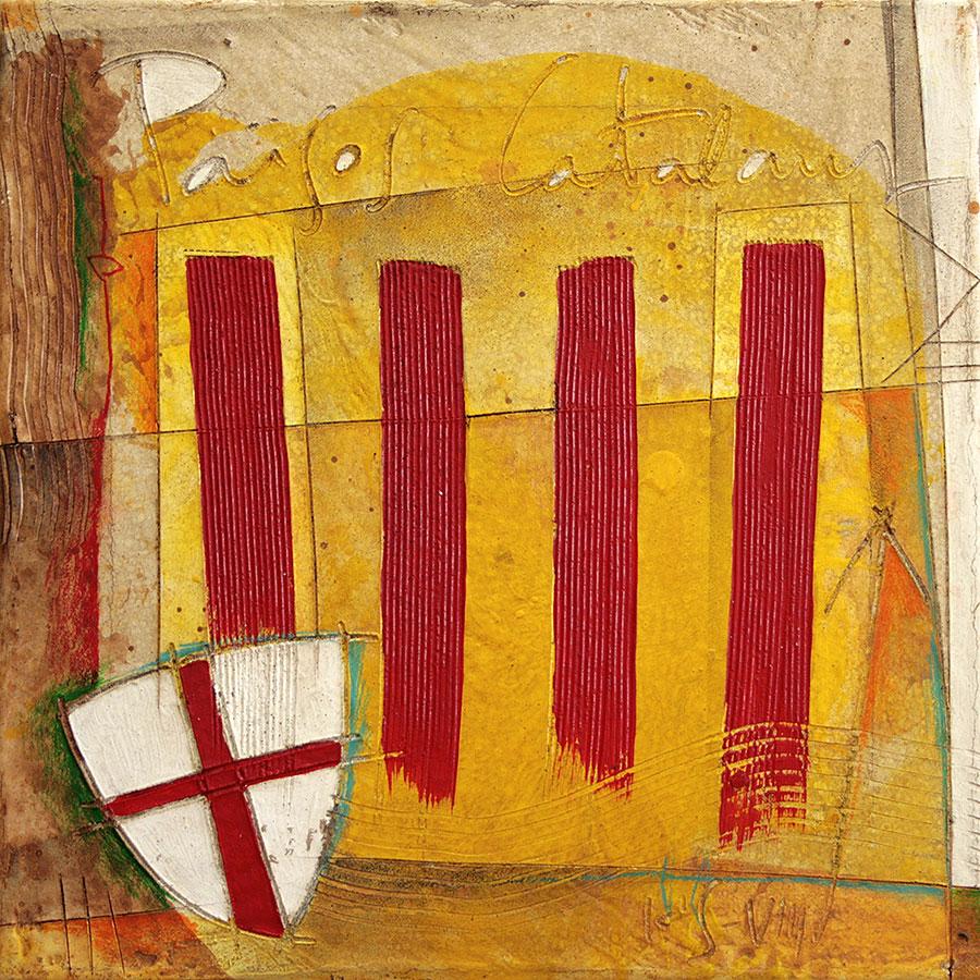 Quatre barres, Països Catalans i escut de St. Jordi