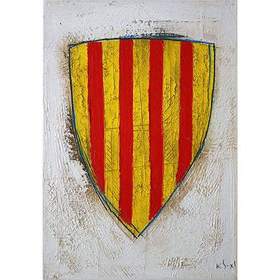 Llenç amb escut de Catalunya