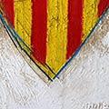 Detall del quadre amb escut de Catalunya