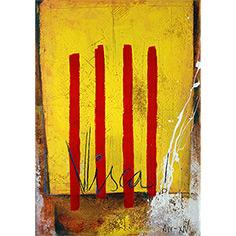 Quadre amb 4 barres catalanes