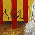 Detall del quadre amb senyera i Visca!