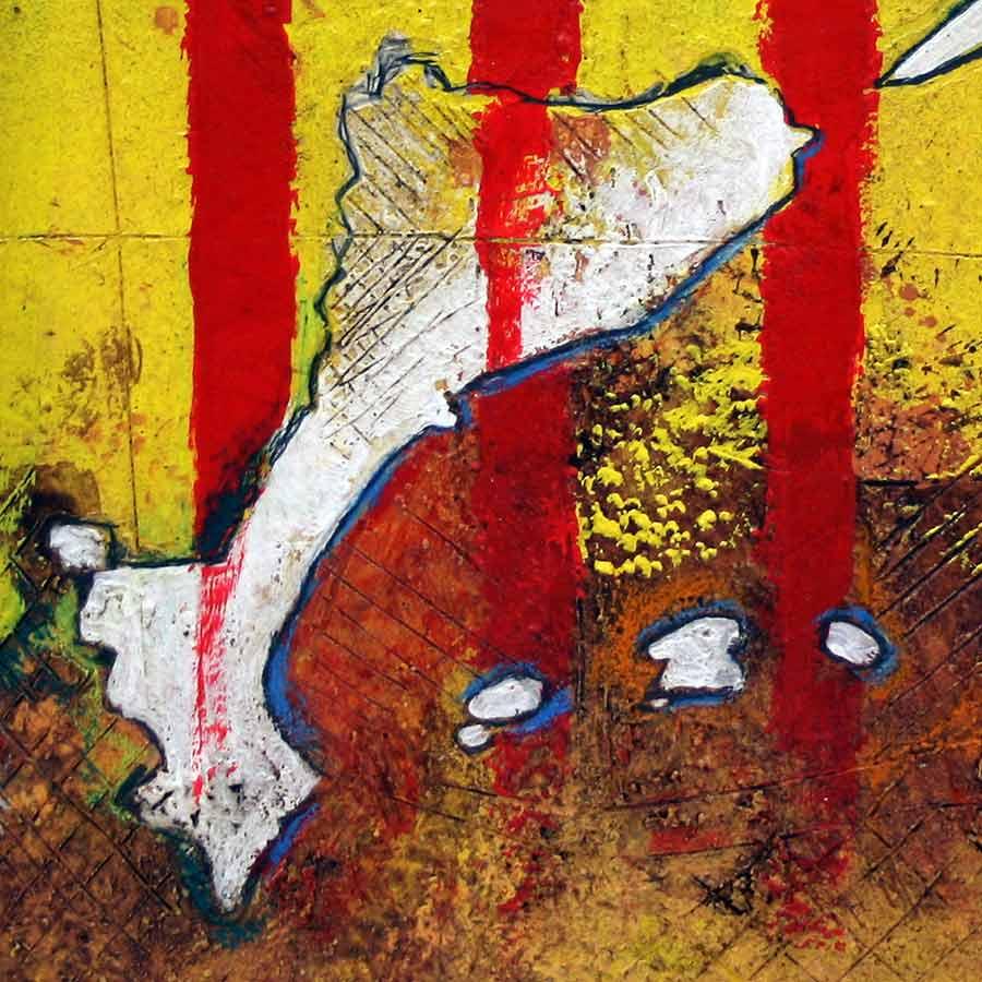 Detall del quadre amb senyera i Països Catalans