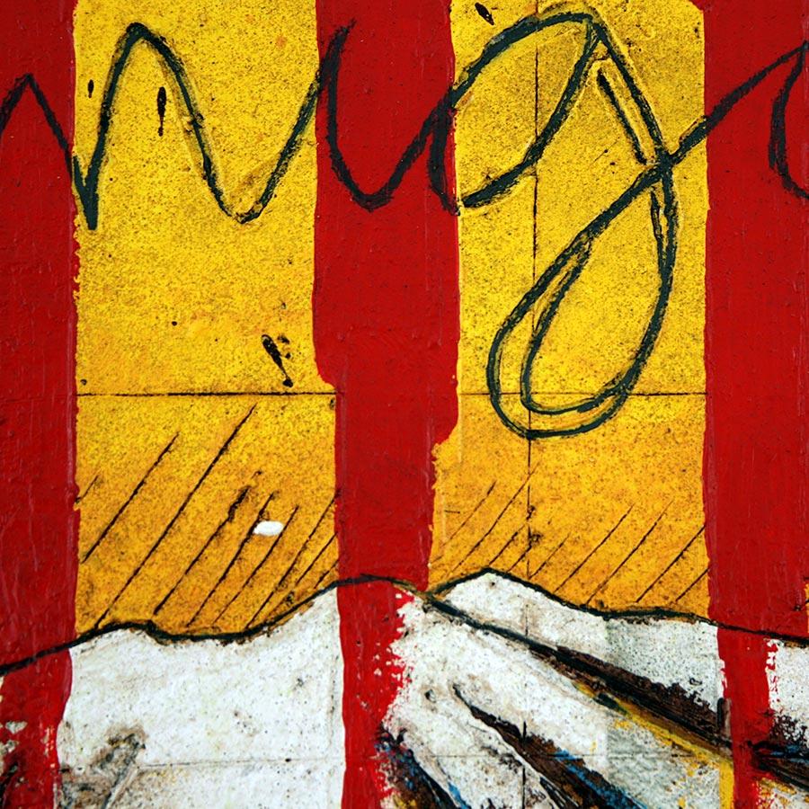Detall del quadre amb senyera i muntanya del Canigó