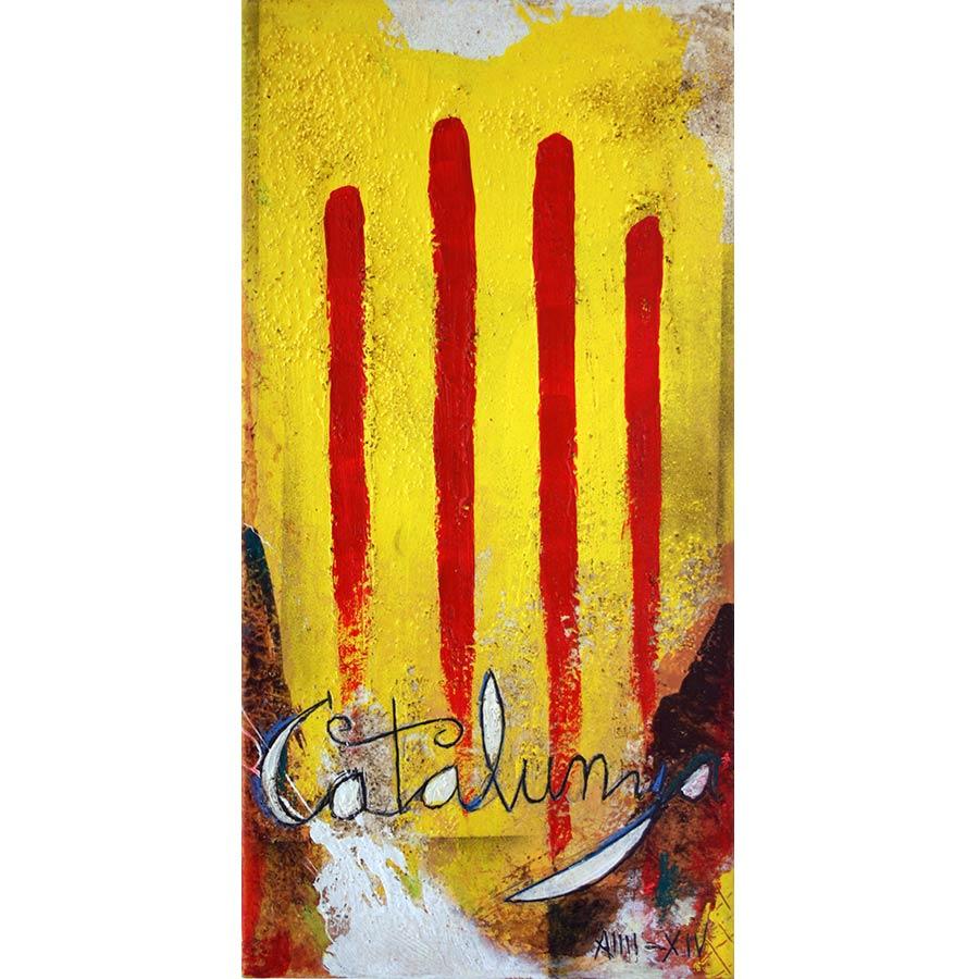 4 barres i lletres Catalunya