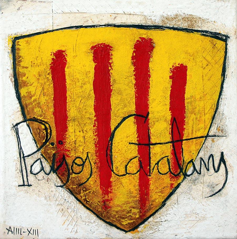 Quadre amb escut català i Països Catalans