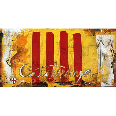 Senyera o estelada, escut de St. Jordi, i PP.CC