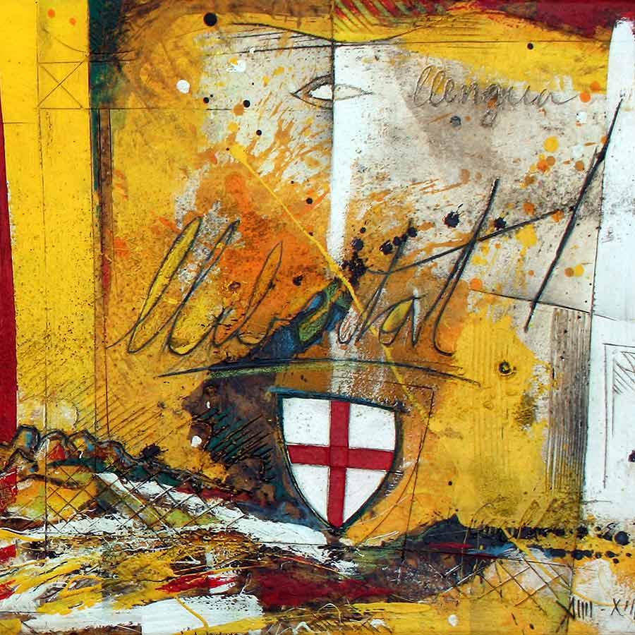 Detall del quadre amb text Llibertat!