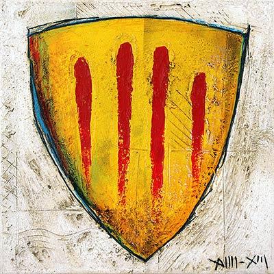 Quadre escut de Catalunya