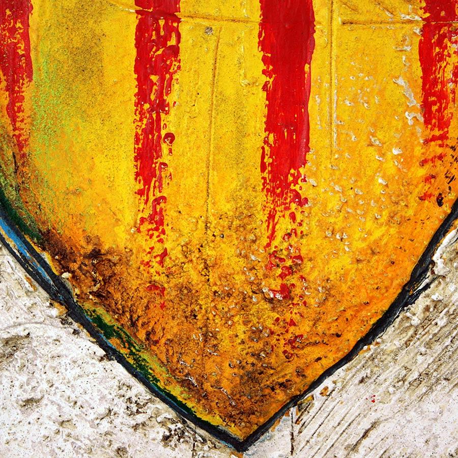 Detall del quadre amb escut dels Països Catalans