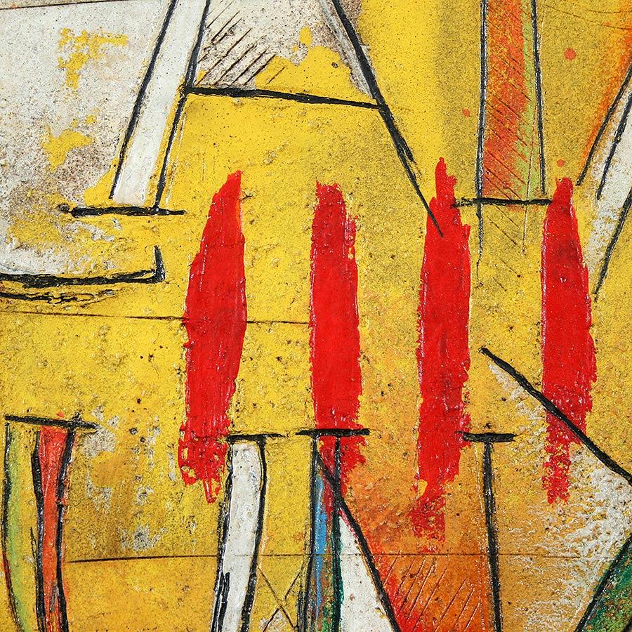 Detall del quadre amb senyera i Catalunya