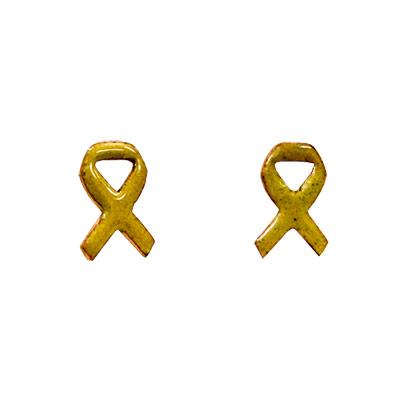 Arracades de coure esmaltat amb llaç groc