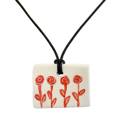 Collaret de porcellana amb 4 roses