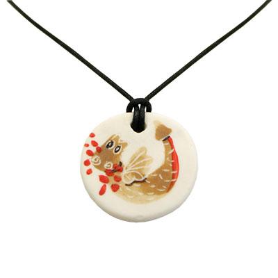 Collaret de porcellana amb drac pintat