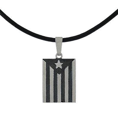 Collaret de Plata amb estelada rectangular