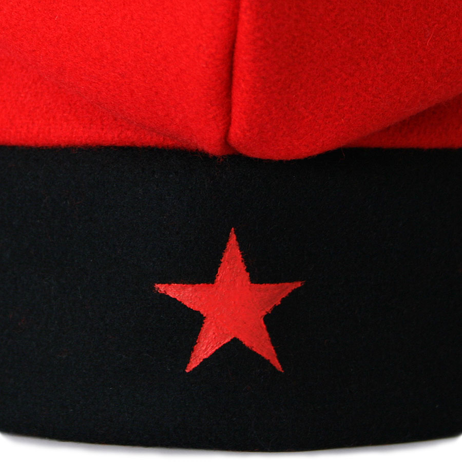 Detall estel roig pintat a mà