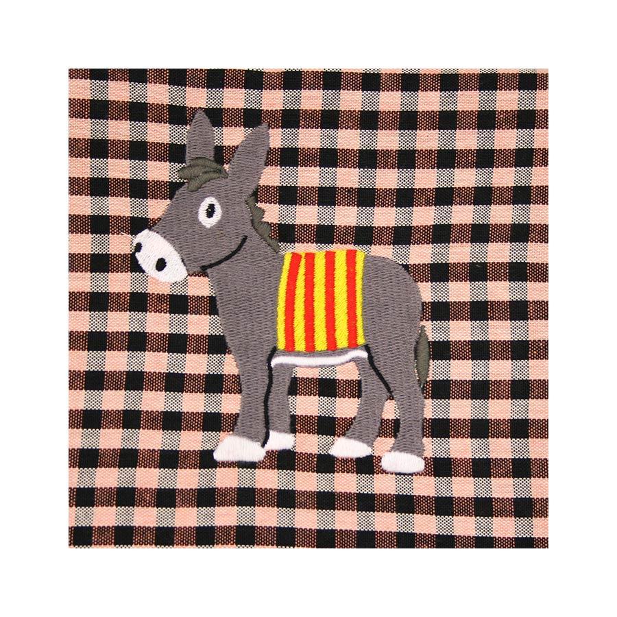 Ase català amb senyera brodat a la bossa